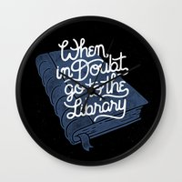 library Wall Clocks featuring Library by WEAREYAWN