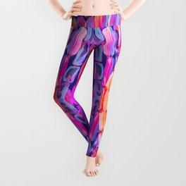 Ultraviolet Purple Sugarcane Pattern Leggings