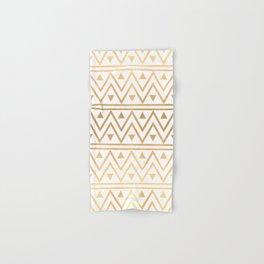 White & Gold Chevron Pattern Hand & Bath Towel