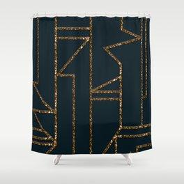 Ladders B (navy) Shower Curtain