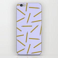 Pencil pattern iPhone & iPod Skin