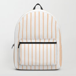 Soft Peach Pinstripe on White Backpack