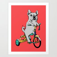 Frenchie Ride Art Print