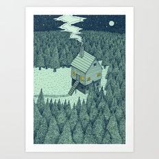 'The Middle Of Nowhere' Colour Art Print