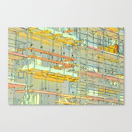 Construction site scaffolding in Berlin Canvas Print