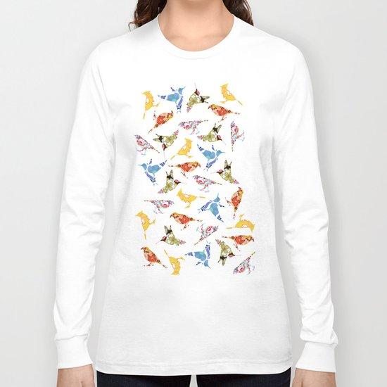Vintage Wallpaper Birds Long Sleeve T-shirt