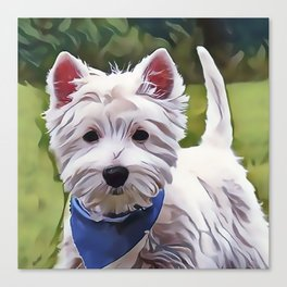 The West Highland Terrier Canvas Print
