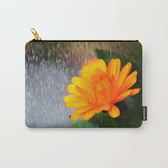 Golden flower on a rainy day Carry-All Pouch