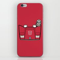 transformers iPhone & iPod Skins featuring Transformers - Sideswipe by CaptainLaserBeam