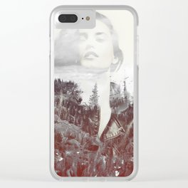 Mountain Girl Clear iPhone Case