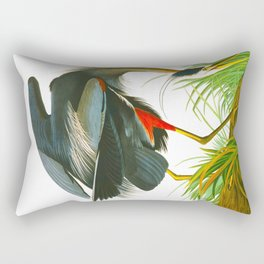 Great blue heron John James Audubon Vintage Scientific Bird Illustration Rectangular Pillow