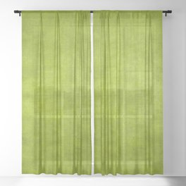 """Summer Fresh Green Garden Burlap Texture"" Sheer Curtain"