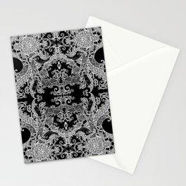 Ornament - Tree of Life - Rebirth - Mehndi Love - Black #3 Stationery Cards