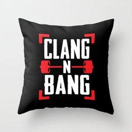 Clang N Bang Throw Pillow