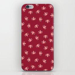 Crazy Happy Uterus in Red, small repeat iPhone Skin
