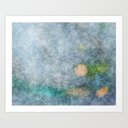 stained fantasy microorganisms Art Print