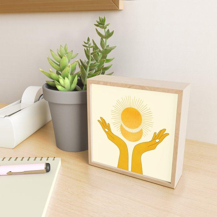Holding the Light Framed Mini Art Print