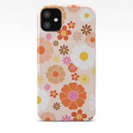 Groovy 60's Mod Pastel Flower Power iPhone Case