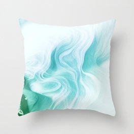 Marble sandstone - ice Throw Pillow