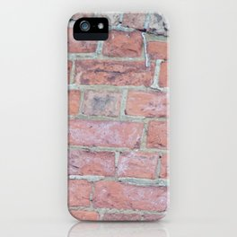 Red Brick Texture iPhone Case