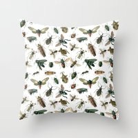 insects Throw Pillows featuring Insects by Noughton
