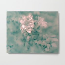 Shabby Chic Floral Metal Print