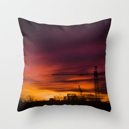 City in the night Throw Pillow