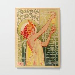 Classic French art nouveau Absinthe Robette Metal Print