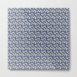 Daisies on blue Metal Print