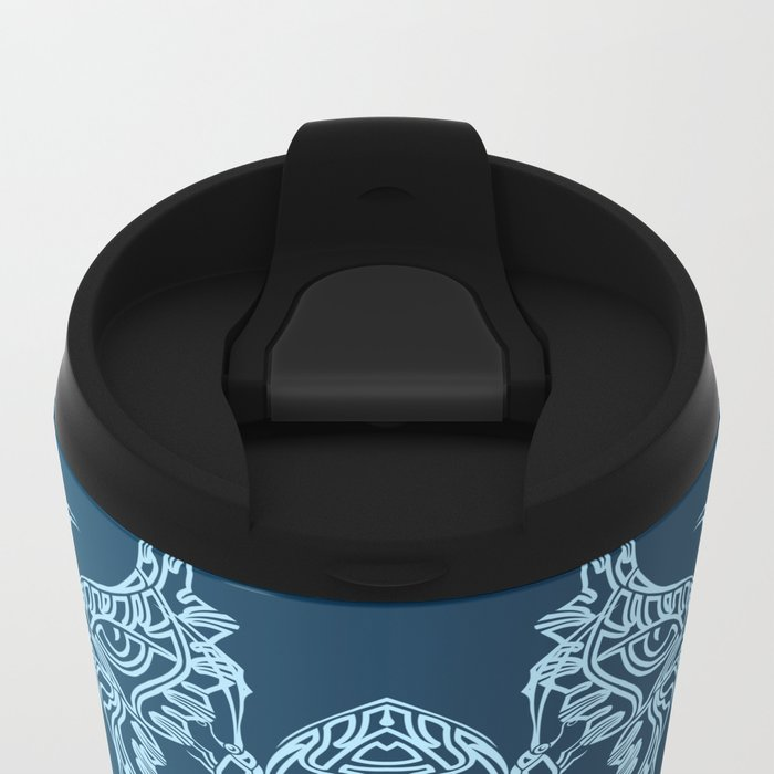 Indian Butterfly Enblem Metal Travel Mug
