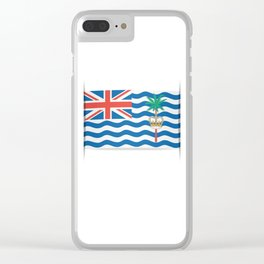 Flag of British Indian Ocean Territory. The slit in the paper with shadows. Clear iPhone Case