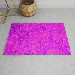 Violet flowers Rug