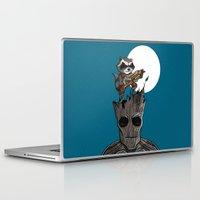 groot Laptop & iPad Skins featuring Rocket & Groot by mebz art