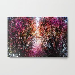 Pink Fire Metal Print