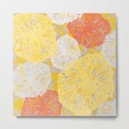 Birdseye Seedheads (yellow/orange) Metal Print
