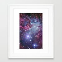 galaxy Framed Art Prints featuring Nebula Galaxy by RexLambo
