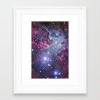 nebula Framed Art Prints featuring Nebula Galaxy by RexLambo