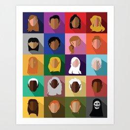 Acotar Minimal Characters Art Print