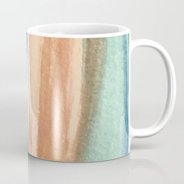 Waves - a pretty minimal watercolor abstract in blues, pinks, and browns Coffee Mug