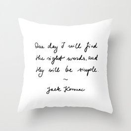 jack kerouac - the dharma bums - quote Throw Pillow