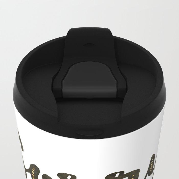 Sorry Not Sorry, black ink 2016 Metal Travel Mug