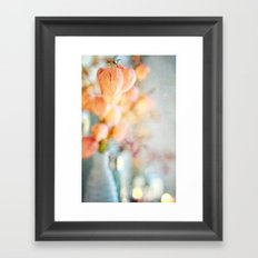 Chinese Lantern Pods and Candlelight Still Life Painterly Framed Art Print