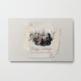 OUAT HAPPY HOLIDAYS // Hood-Mills Family Metal Print
