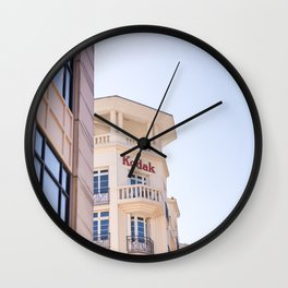Kodak building Reims, France Wall Clock