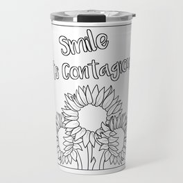 Smile Its Contagious Travel Mug