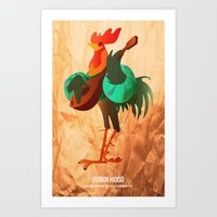robin hood Art Prints featuring Robin Hood by holysmoaks