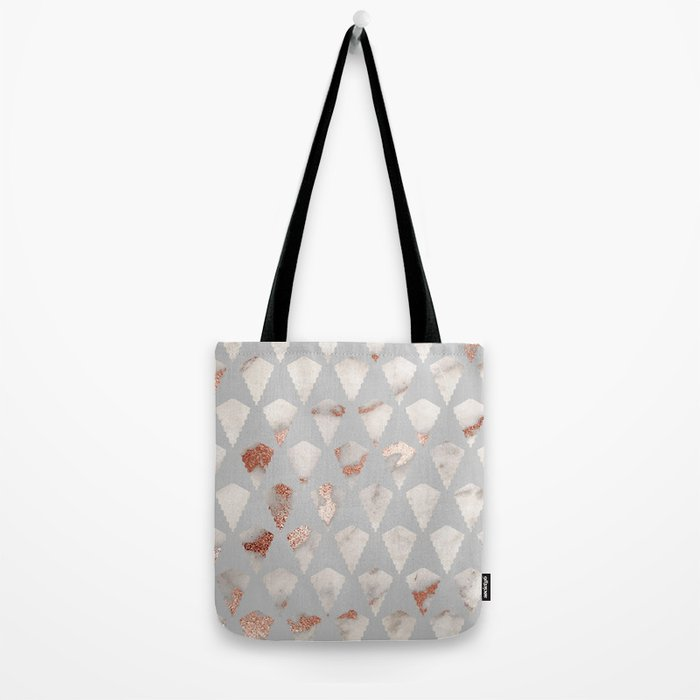 Rose gold marble pattern Tote Bag