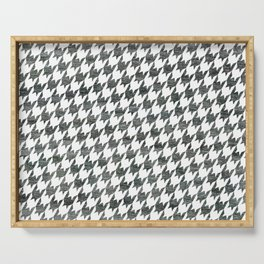 Black and white houndstooth pattern Serving Tray