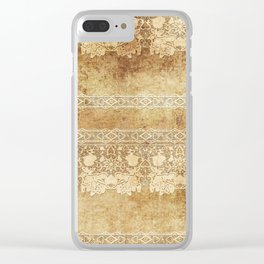 Vintage. The old lace. Vintage fabric . Clear iPhone Case