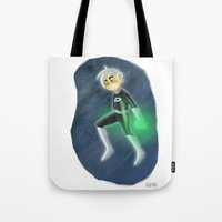 danny haas Tote Bags featuring Danny Phantom by David Pavon
